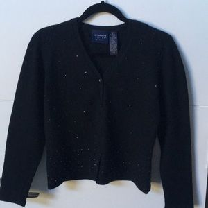 Black beaded cardigan.  Special event ready!